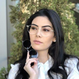 safine com br oculos 2 em 1 redondo transparente cloe 4