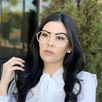 safine com br oculos de grau aviador redondo ivy nude 3