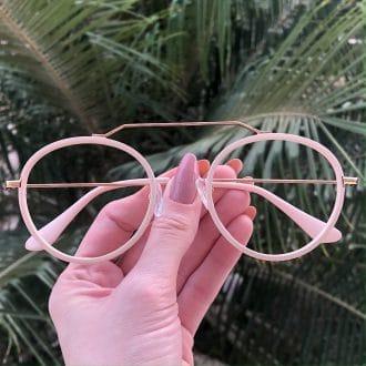 safine com br oculos de grau aviador redondo ivy nude