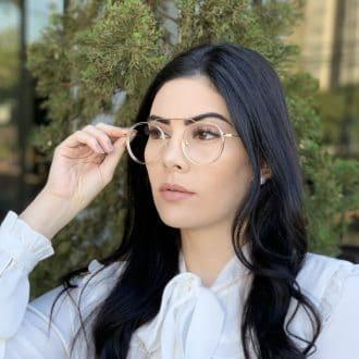 safine com br oculos de grau aviador redondo ivy transparente 2