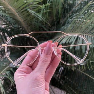 safine com br oculos de grau aviador redondo ivy transparente