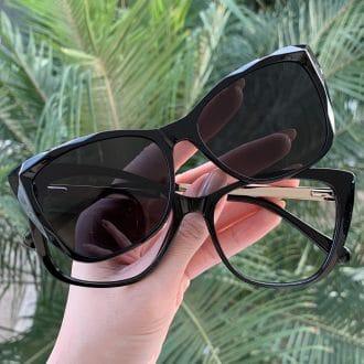 safine com br oculos 2 em 1 clip on gatinho preto valentina