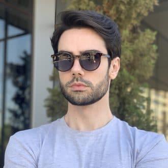 safine com br oculos 2 em 1 clip on masculino redondo marrom joao