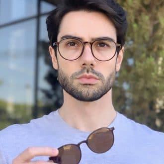 safine com br oculos 2 em 1 clip on masculino redondo marrom rafa 3