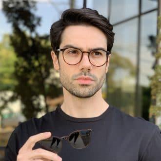 safine com br oculos 2 em 1 clip on masculino redondo tartaruga joao 2