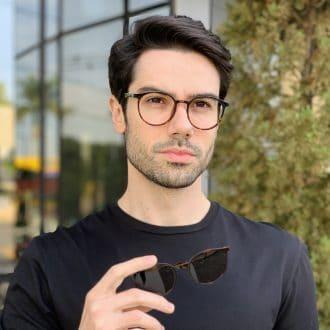 safine com br oculos 2 em 1 clip on masculino redondo tartaruga joao 3