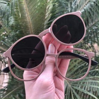 safine com br oculos 2 em 1 clip on redondo nude melissa