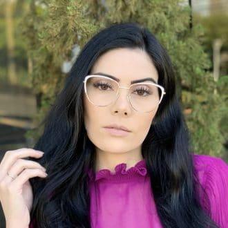 safine com br oculos de grau de metal gatinho branco lorena 2