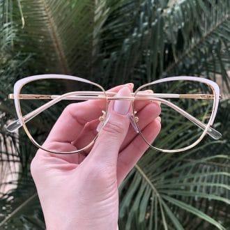 safine com br oculos de grau de metal gatinho branco lorena 3