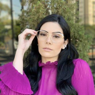 safine com br oculos de grau de metal gatinho dourado lorena 3