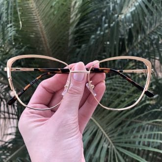 safine com br oculos de grau de metal gatinho dourado lorena