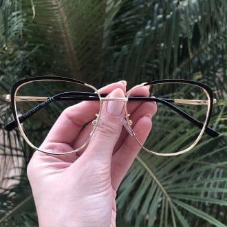 safine com br oculos de grau de metal gatinho preto lorena 3