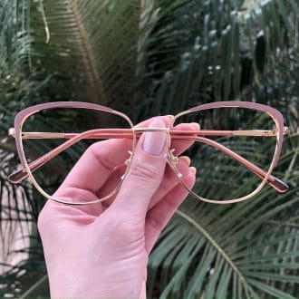 safine com br oculos de grau de metal gatinho rosa lorena