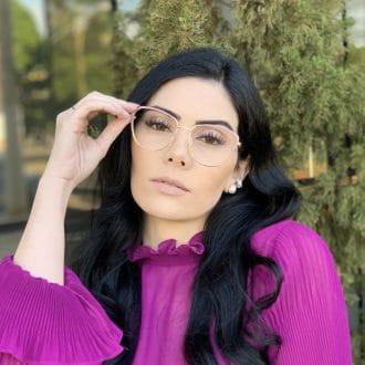 safine com br oculos de grau de metal gatinho rosa lorena 4