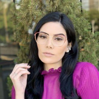 safine com br oculos de grau de metal gatinho vermelho lorena 2
