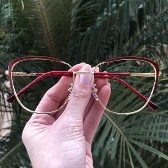 safine com br oculos de grau de metal gatinho vermelho lorena 3