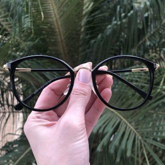 safine com br oculos de grau redondo preto helo
