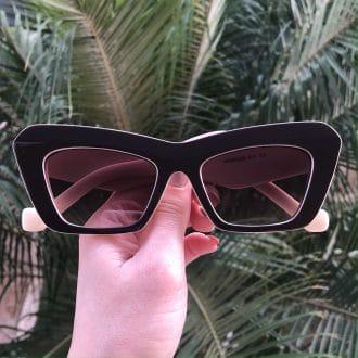 safine com br oculos de sol gatinho marrom com nude jade