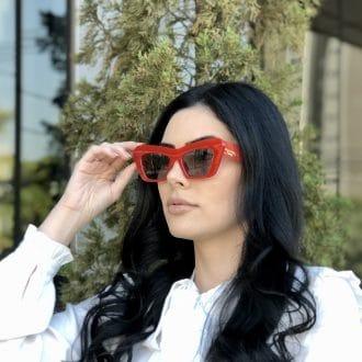 safine com br oculos de sol gatinho vermelho jade