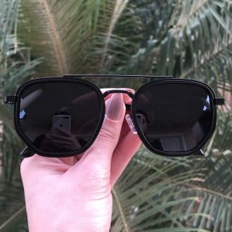 safine com br oculos de sol hexagonal aviador preto mariah 3