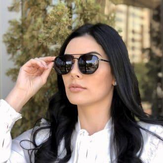 safine com br oculos de sol hexagonal aviador preto mariah