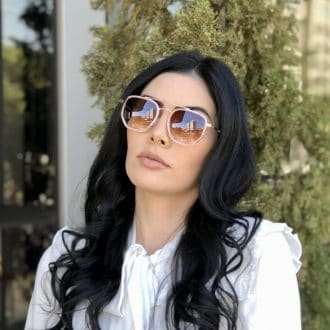 safine com br oculos de sol hexagonal aviador rosa mariah 1