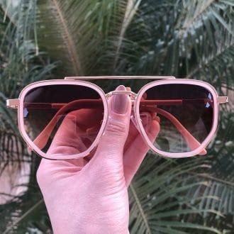 safine com br oculos de sol hexagonal aviador rosa mariah 3