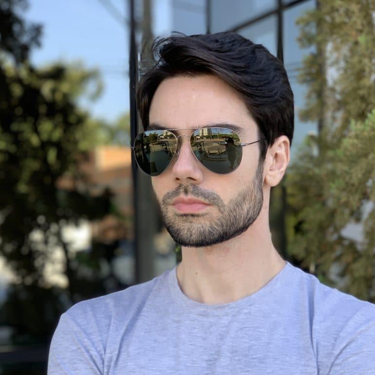 safine com br oculos de sol masculino aviador verde igor 1