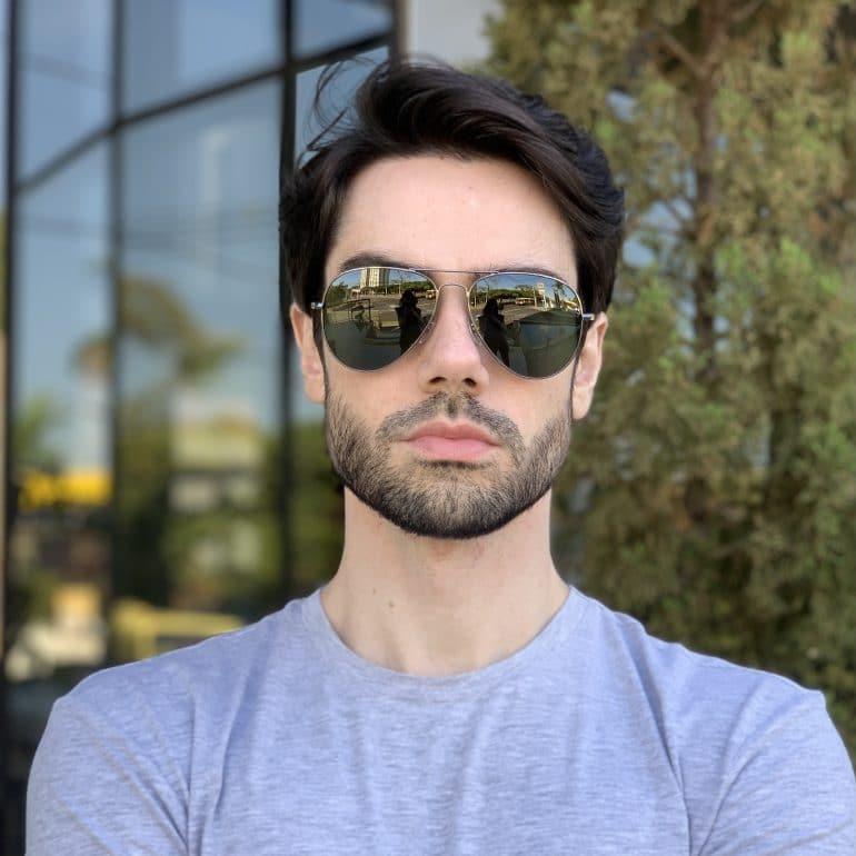 safine com br oculos de sol masculino aviador verde igor 2