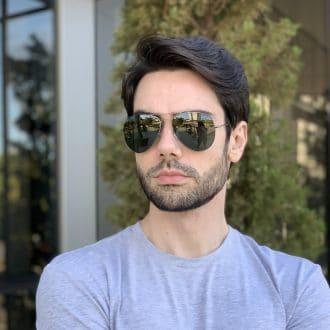 safine com br oculos de sol masculino aviador verde igor