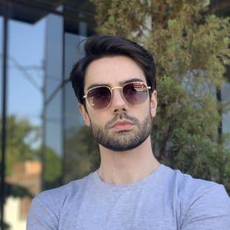 safine com br oculos de sol masculino hexagonal marrom copia 1