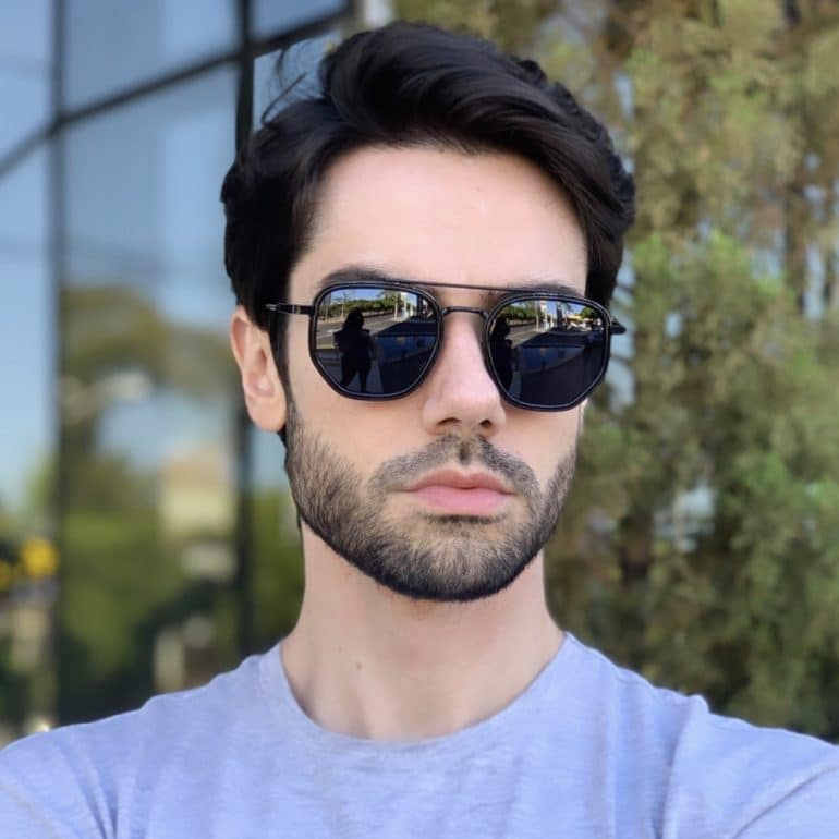 safine com br oculos de sol masculino hexagonal mateus