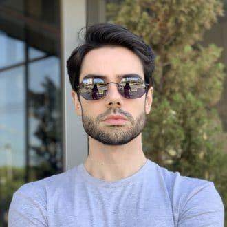 safine com br oculos de sol masculino hexagonal preto bruno 1
