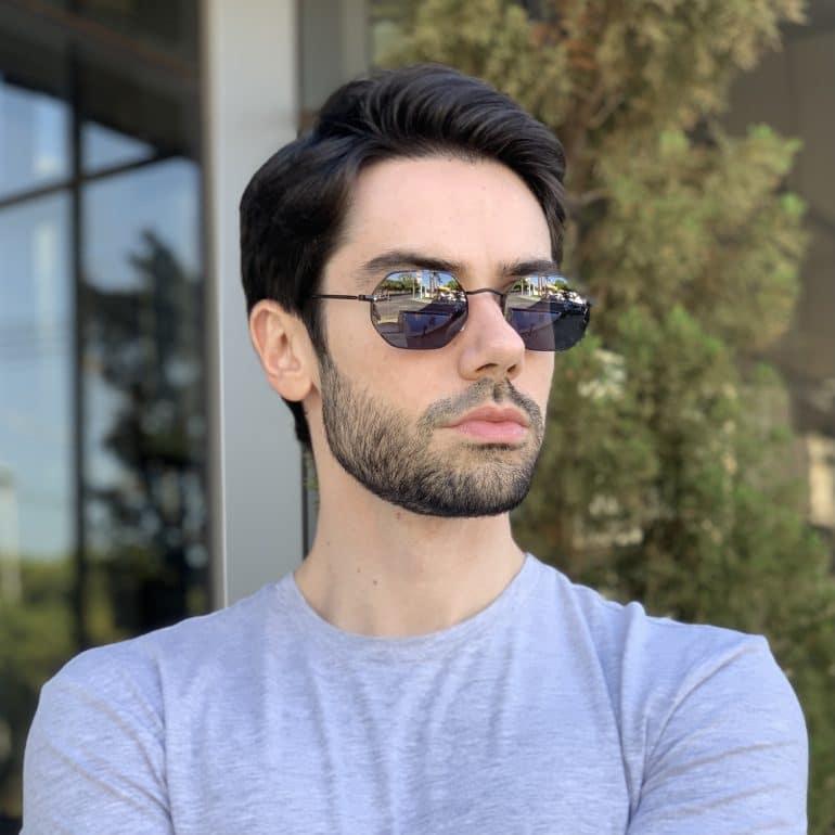 safine com br oculos de sol masculino hexagonal preto bruno 2