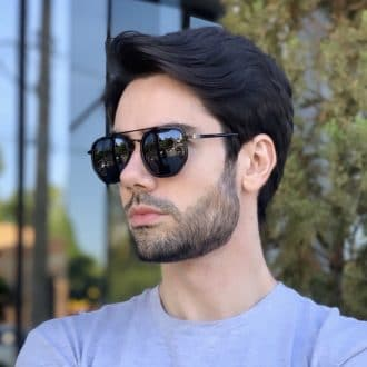 safine com br oculos de sol masculino hexagonal preto mateus 4