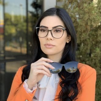 safine com br oculos 2 em 1 clip on gatinho em acetato preto poli 6
