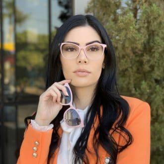 safine com br oculos 2 em 1 clip on gatinho em acetato rosa poli 6