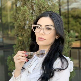 safine com br oculos 2 em 1 clip on gatinho nude heloa 6