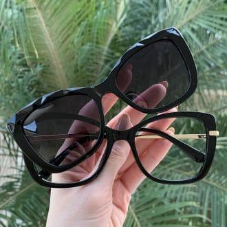 safine com br oculos 2 em 1 clip on gatinho preto belly