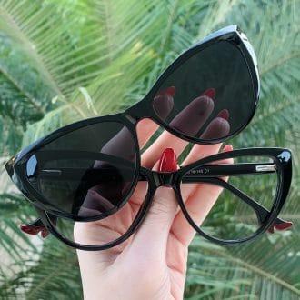 safine com br oculos 2 em 1 clip on gatinho preto may
