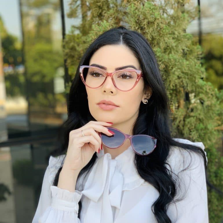safine com br oculos 2 em 1 clip on gatinho rosa may 5