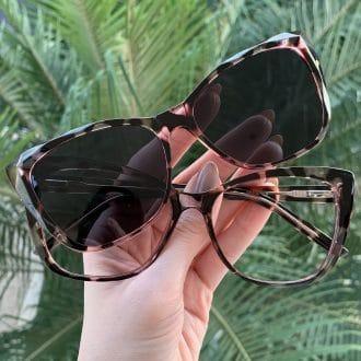 safine com br oculos 2 em 1 clip on gatinho tartaruga com rosa luma