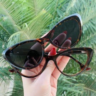 safine com br oculos 2 em 1 clip on gatinho tartaruga heloa
