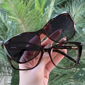 safine com br oculos 2 em 1 clip on gatinho tartaruga luma