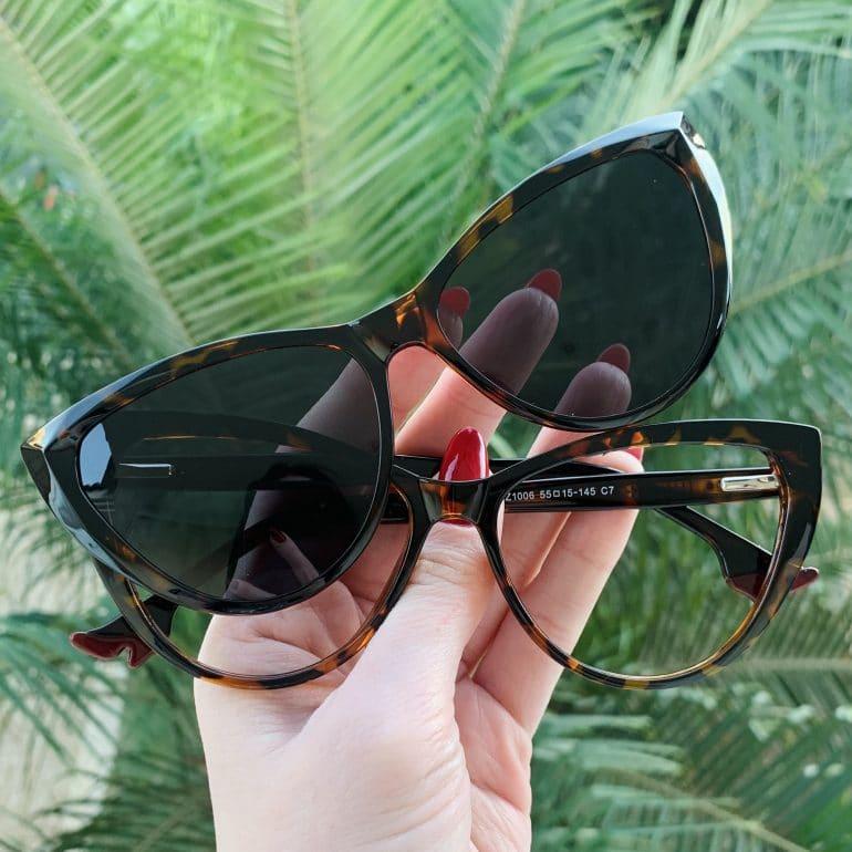 safine com br oculos 2 em 1 clip on gatinho tartaruga may