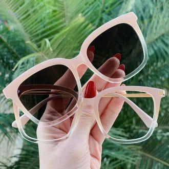 safine com br oculos 2 em 1 clip on quadrado nude monique