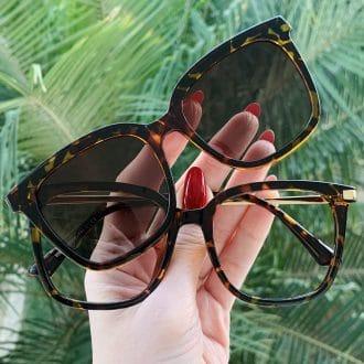 safine com br oculos 2 em 1 clip on quadrado tartaruga monique 3