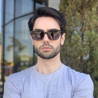 safine com br oculos 3 em 1 clip on masculino retangular preto luis