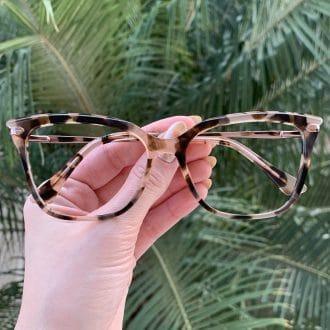 safine com br oculos de grau em acetato gatinho tartaruga com rosa alicia