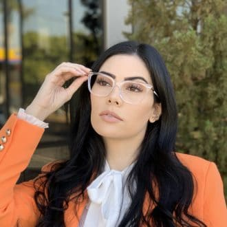 safine com br oculos de grau em acetato gatinho transparente alicia 1
